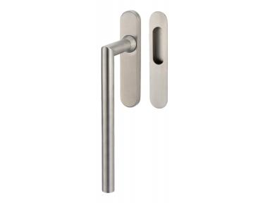 Lift & Slide handle Tropex Toledo in Satin Steel