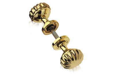 Daisy Pair of Brass Knobs Ø60 Diameter for Door PFS Pasini
