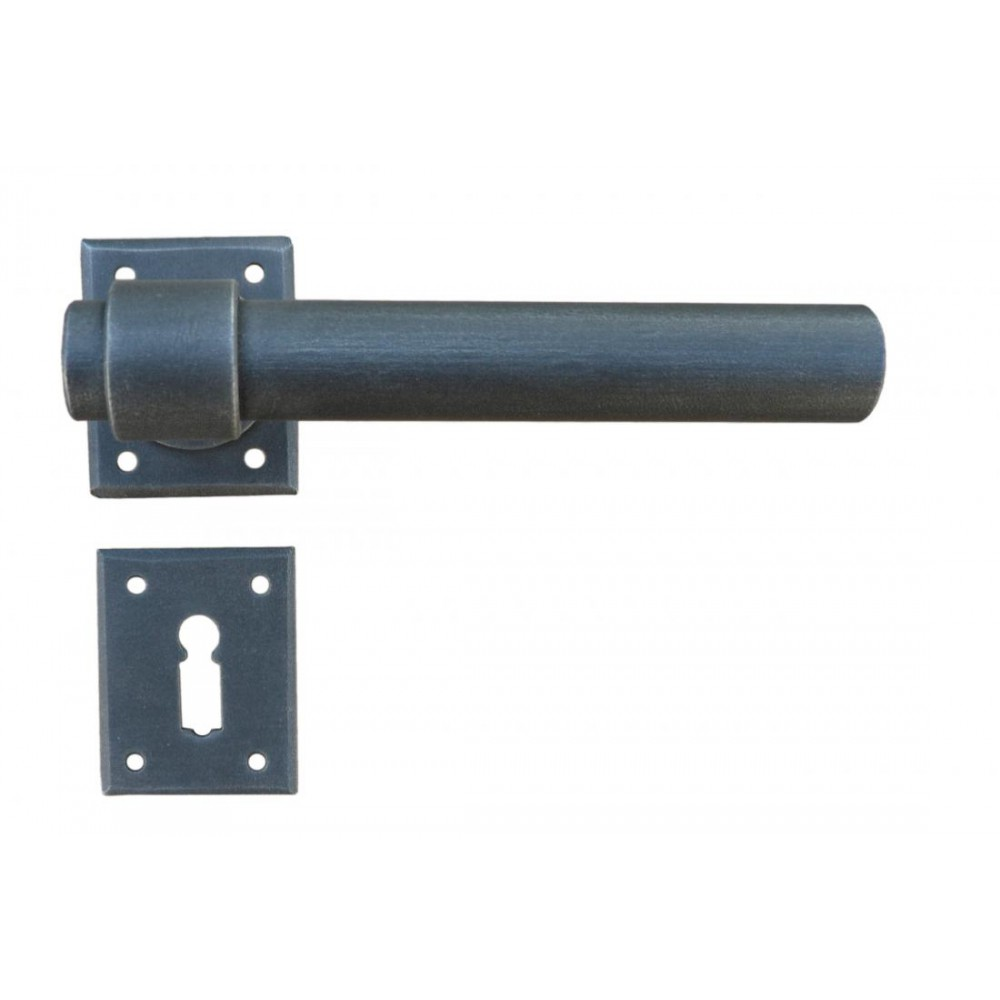 Milan Square Galbusera Door Handle With Rosette And Escutcheon Plate
