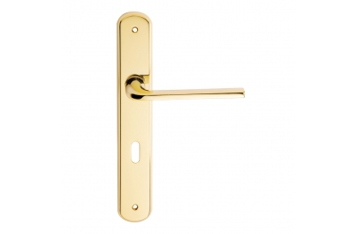 Milly Series Basic forme Door Handle on Regular Plate Frosio Bortolo Contemporary Design