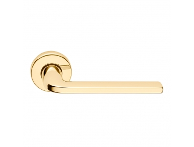 Milly Series Basic forme Door Handle on Round Rosette Frosio Bortolo Contemporary Design