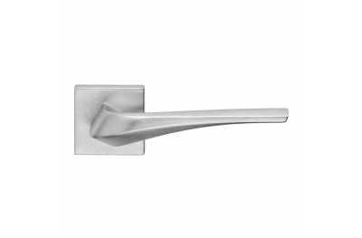 Minerva Series Fashion forme Door Handle on Square Rosette Frosio Bortolo Contemporary Design