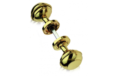 Mod 800 Pair of Brass Knobs Ø60 Diameter for Door PFS Pasini