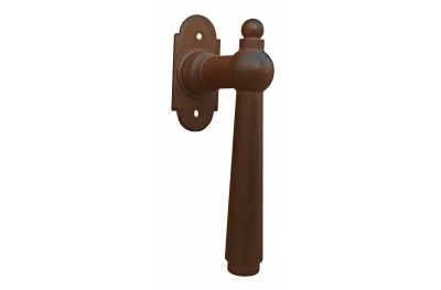 Munich Galbusera Window Handle with Rosette Wrought Iron