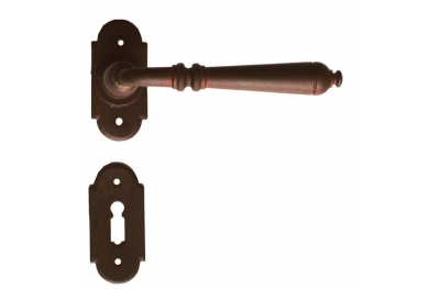 Moscow 2 Galbusera Door Handle with Rosette and Escutcheon Plate