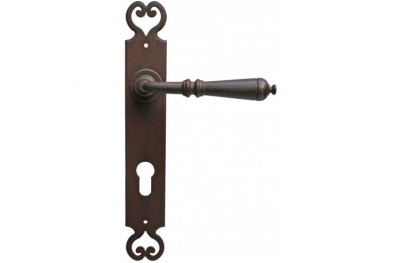 Moscow 2 Galbusera Door Handle with Plate