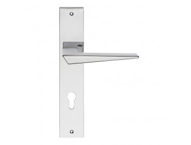 Naxos Series Fashion forme Door Handle on Plate Frosio Bortolo Essential Design