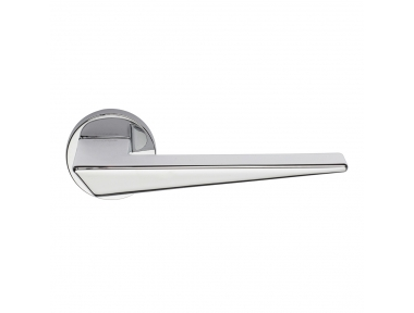 Naxos Series Fashion forme Door Handle on Round Rosette Frosio Bortolo Essential Lines