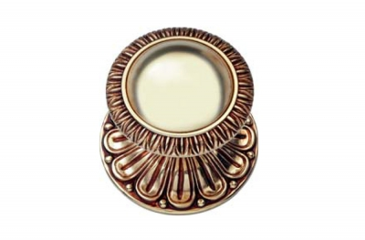 Ninfa 1540 PT Door Knob by Linea Calì in Baroque Rococò Style Made in Italy