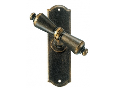 Oslo Galbusera Window Handle with Plate Wrought Iron
