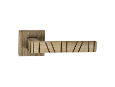 Paris Series Fashion forme Door Handle on Square Rosette Frosio Bortolo With Stripes Pattern