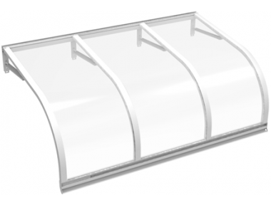 Shelter Cassiopeia White Transparent Aluminium AMA Sun Protection