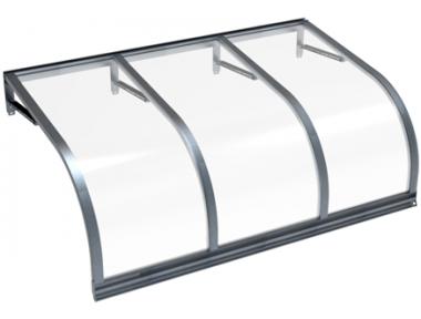 Shelter Cassiopeia Grey Transparent Aluminium AMA Sun Protection