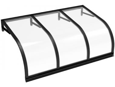 Shelter Cassiopeia Black Transparent Aluminium AMA Sun Protection