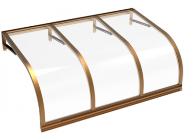 Shelter Cassiopeia Copper Transparent Aluminium AMA Sun Protection