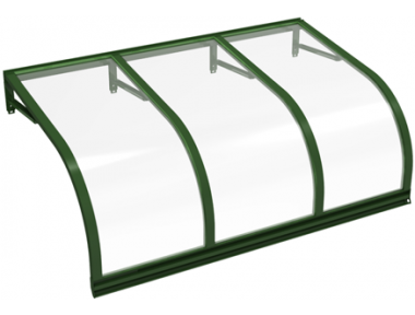 Shelter Cassiopeia Green Transparent Aluminium AMA Sun Protection