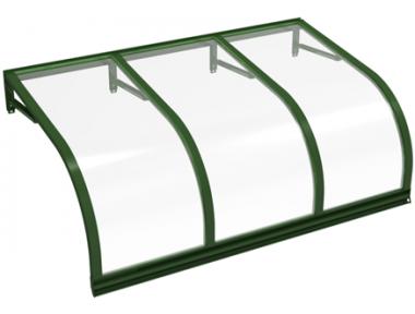 Shelter Cassiopeia Green Transparent Aluminium AMA Sun Protection