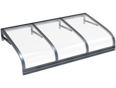 Shelter Euriga Grey Transparent Aluminium AMA Sun Protection