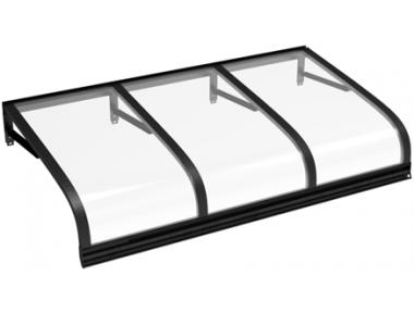 Shelter Euriga Black Transparent Aluminium AMA Sun Protection