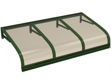 Shelter Euriga Green Bronze Aluminium AMA Sun Protection