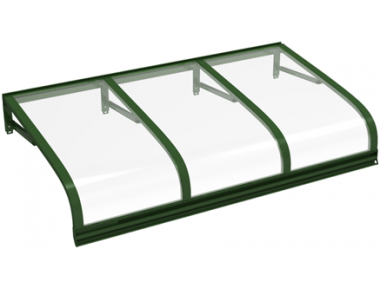 Shelter Euriga Green Transparent Aluminium AMA Sun Protection