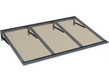Shelter Lira Grey Bronze Aluminium AMA Sun Protection
