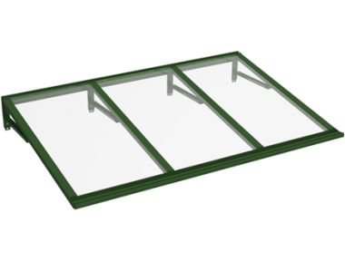 Shelter Lira Green Transparent Aluminium AMA Sun Protection