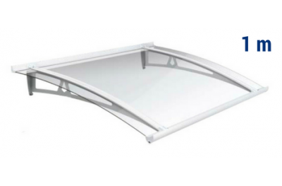 Newstyle Canopy NS-01 Transperent Roof 1,00m Overhang Royal Pat Newentry