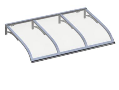 Shelter Vela Aluminium Transparent Aluminium AMA Sun Protection
