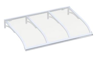 Shelter Vela White Transparent Aluminium AMA Sun Protection