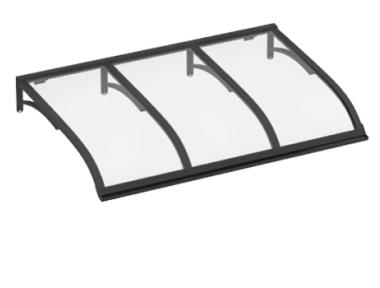 Shelter Sailing Grey Transparent Aluminium AMA Sun Protection