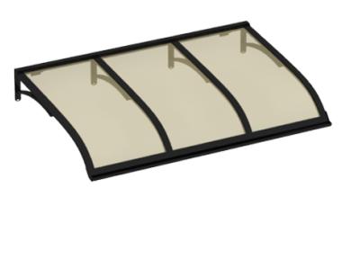 Shelter Vela Black Aluminium Bronze AMA Sun Protection