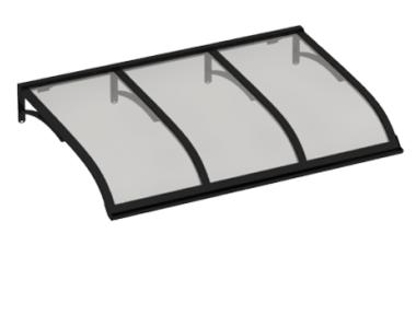 Shelter Vela Black Grey Aluminium AMA Sun Protection