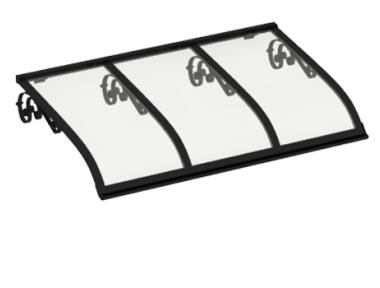 Shelter Sailing Old Black Transparent Aluminium AMA Sun Protection
