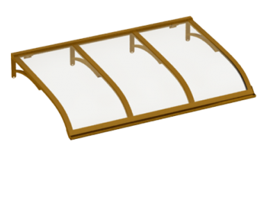 Sailing shelter Copper Transparent Aluminium AMA Sun Protection