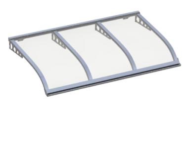 Shelter Sailing Style Attack Wall Transparent Aluminium Aluminium AMA