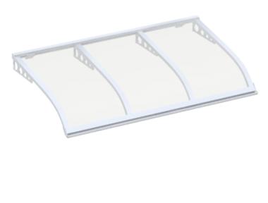 Shelter Sailing Style Attack Wall White Transparent Aluminium AMA