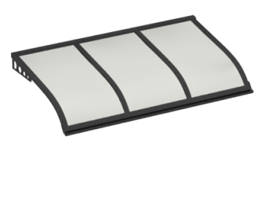 Shelter Sailing Style Attack Wall Grey Opal Aluminium AMA
