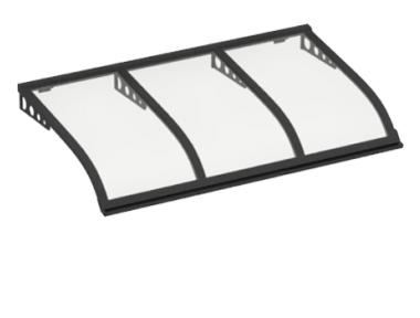 Shelter Sailing Style Attack Wall Grey Transparent Aluminium AMA