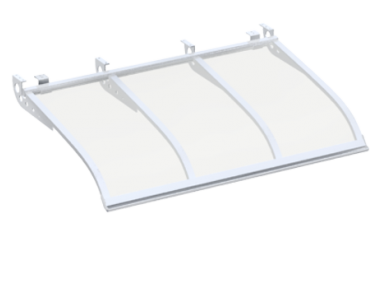 Shelter Sailing Style Attack Ceiling White Transparent Aluminium AMA