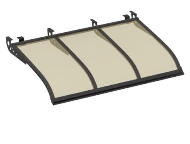 Shelter Sailing Style Attack Ceiling Grey Bronze Aluminium AMA