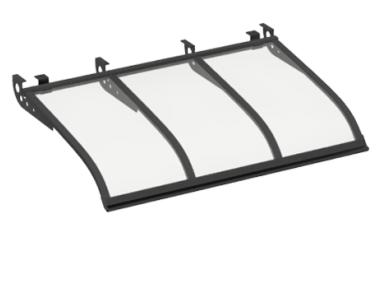 Shelter Sailing Style Attack Ceiling Grey Transparent Aluminium AMA