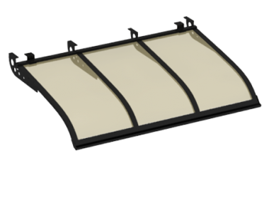 Shelter Sailing Style Attack Ceiling Black Aluminium Bronze AMA