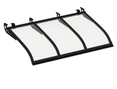 Shelter Sailing Style Attack Ceiling Black Transparent Aluminium AMA