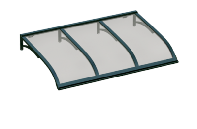 Shelter Vela Green Grey Aluminium AMA Sun Protection