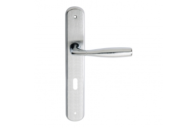 Philip 2 Series Basic forme Door Handle on Regular Plate Frosio Bortolo Ergonomic Shape