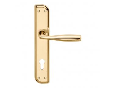 Philip Series Basic forme Door Handle on Irregolar Plate Frosio Bortolo Classic Style