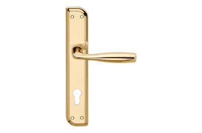 Philip Series Basic forme Door Handle on Irregolar Plate Frosio Bortolo Classic Style