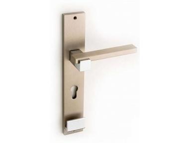 Plus Line Brass Door Handle on Plate Fashion Line PFS Pasini