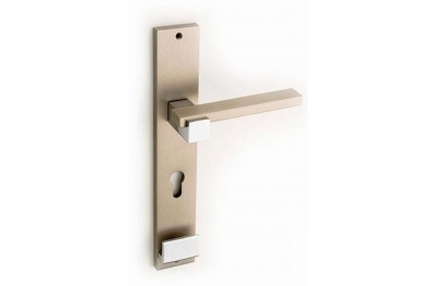 Plus Line Brass Door Handle on Plate Fashion Line PFS Pasini